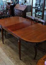 Vintage Solid Mahogany French Extension Dining Table $2400.00