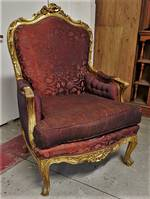 Pair of French Antique Gilt Armchairs - Original Condition -$3500 pair