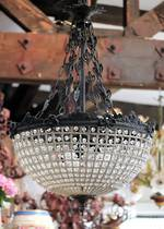French Half Basket Chandelier