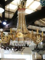 Hollywood Regency Liberace Style Chandelier - Italian Vintage