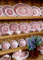 Masons Ironstone Red 'Vista' Pattern $1950.00 set. 54 pieces