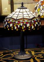Handmade Lead-light Spider Web Tiffany Style Table Lamp $425
