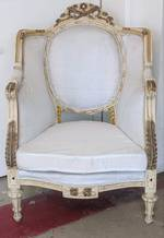 Unusual French Wing Back Armchair