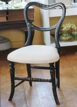 19th Century Child's Chair - Ebonised & Inlaid $225.00