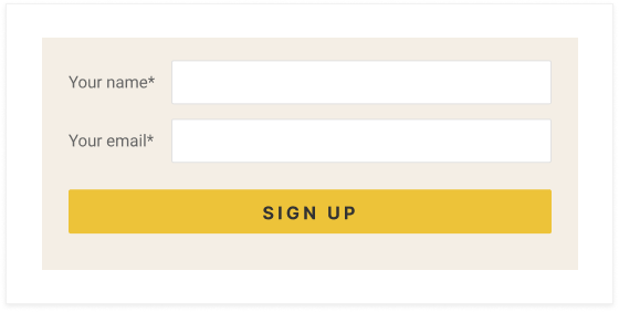 Email Capture/Sign Up feature