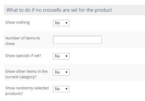 Cross-sell-preferences