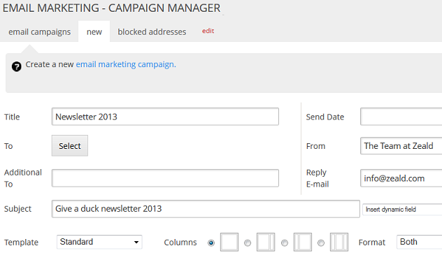 email-marketing NewCampaign