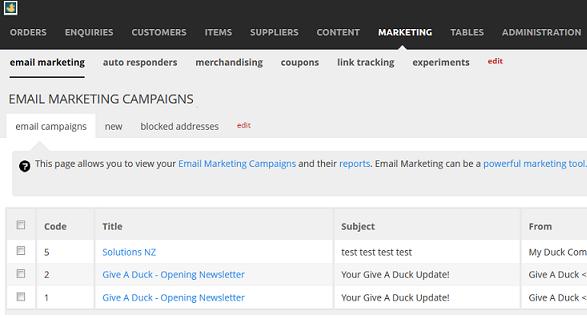 email-marketing campaignlist