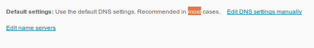 dns settings default