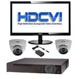 HD-CVI Kit - 1TB DVR, 2x 720P Dome Cameras, PSU & Philips 24