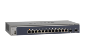NETGEAR - ProSafe 12-Port Gigabit L2 Switch, 2x SFP slots, Fanless