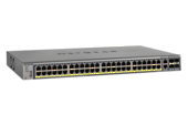 NETGEAR - 48-Port Gigabit PoE+ L2+ switch with 4x SFP slots